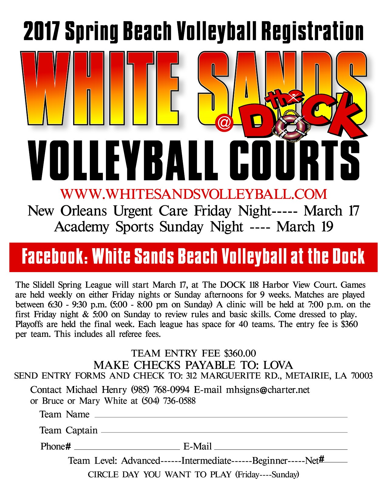 Slidell White Sands Volleyball Courts